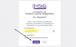 twitch nicki nasıl güncellenir